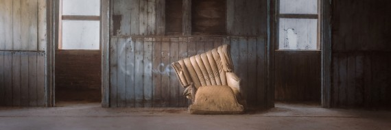 Abandoned School and Comfy Chair