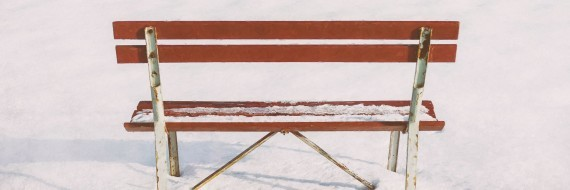 Blank Slate - Park Bench in Snow