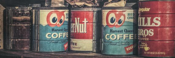 Coffee Tins All in a Row