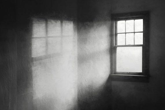 Moonbeams on the Attic Window