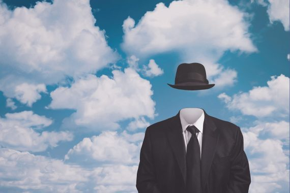 A Riff on Magritte's The Pilgrim