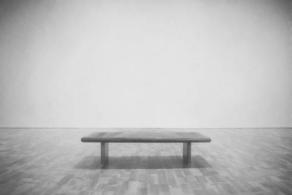 An empty bench at the Milwaukee Art Museum, Milwaukee, Wisconsin. January 27, 2017 Copyright 2017 Scott Norris Photography scottnorrisphotography.com